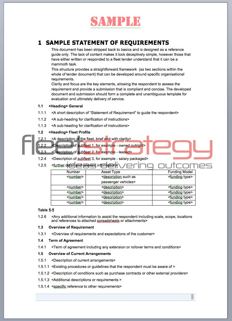 Http Www Fleetstrategy Com Au Portfolio Sample Tender Materials 2